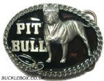 PIT BULL Belt Buckle + display stand. Product code BH8